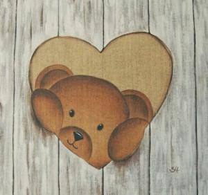 Tableau nounours coeur
